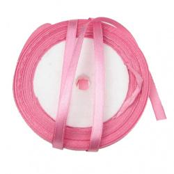 Satin shrit 6 mm roz închis ~ 22 metri