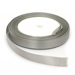 Ширит сатен 12 мм сребро ±22 метра