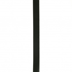 Ширит Сатен 10 мм рипс черен ~10 метра
