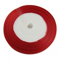 Ширит сатен 10 мм червен -22 метра