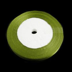 Ширит сатен 10 мм зелен ~22 метра