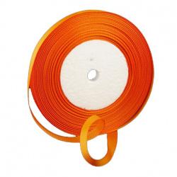 Сатенен ширит/за декорация/ 10 мм оранжев ~22 метра