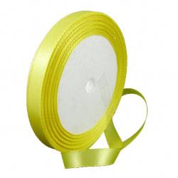 Κορδέλα σατέν 10 mm κίτρινο ~ 22 μέτρα