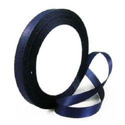 Ширит сатен 10 мм син тъмно -22 метра