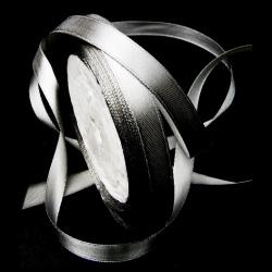 Ширит Сатен 10 мм сребро ~22 метра