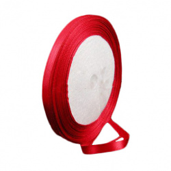 Ширит сатен 30 мм червен ~22 метра