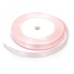 Ширит cатен 10 мм розов бледо ~22 метра