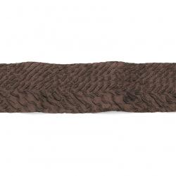Πολυεστερική κρεπ ταινία 40 mm καφέ -1 μέτρα