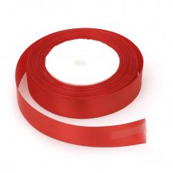 Ширит сатен 20 мм червен ~22 метра