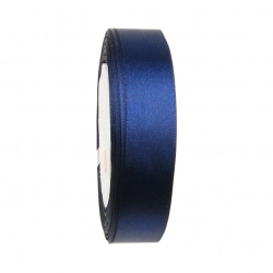 Ширит сатен 20 мм син тъмен ~22 метра