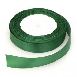Ширит сатен 20 мм зелен ~22 метра