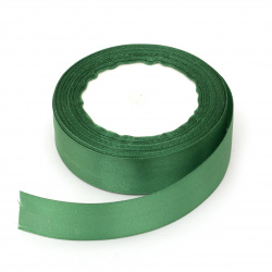 Ширит сатен 25 мм зелен ~22 метра