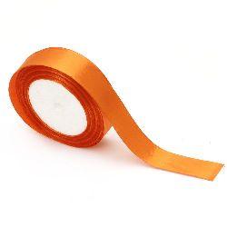 Ширит сатен 25 мм оранжев ~22 метра