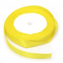Ширит сатен 12 мм жълт ~22 метра