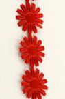 Ширит сатен 17 мм цвете цвят червен -3 метра