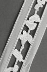 Ширит сатен и органза 38 мм бял -3 метра