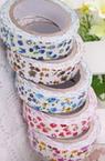Banda textilă 15 mm flori autoadezive -4 metri