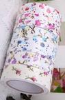 Banda textilă de 15 mm autoadezivă pe flori -4 metri