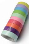 Лента текстил 10 мм самозалепваща АСОРТЕ цветове -4 метра
