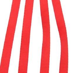 Ширит Сатен 6 мм рипс червен -10 метра