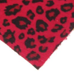 Suede A4 (21x29.7 cm) self-adhesive leopard right red