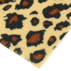 Suede A4 Sheet (21x29.7 cm) self-adhesive leopard right brown