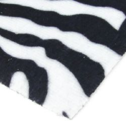 Velour A4 (21x29.7 cm) adhesive tiger right white