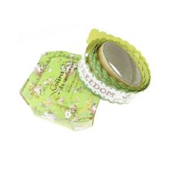 Washi Tape, Decorations, Gift Wrapping, DIY Crafts, Scrapbooking, Decoupage 20 mm self-adhesive green -1.5 meters