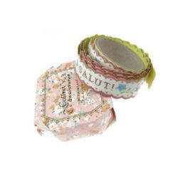 Adhesive Washi Tape, Decorations, Gift Wrapping, DIY Crafts, Scrapbooking, Decoupage 20mm  of self-adhesive ash from roses -1.5 meters