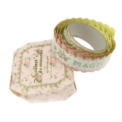 Adhesive Washi Tape, Decorations, Gift Wrapping, DIY Crafts, Scrapbooking, Decoupage 20 mm adhesive pink -1.5 meters