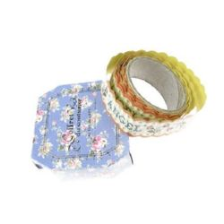 Washi Tape, Decorations, Gift Wrapping, DIY Crafts, Scrapbooking, Decoupage 20 mm self-adhesive orange -1.5 meters