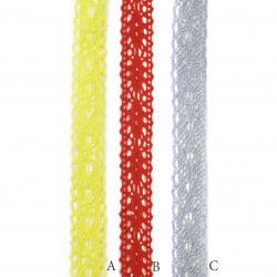 Banda de dantelă 18 mm autoadezivă culori asortate-2 metri