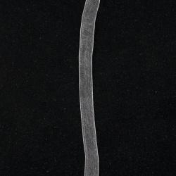 Лента органза 9 мм бяла -20 метра