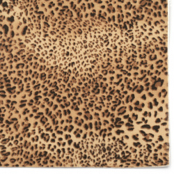 Self-adhesive Velor 19x27 cm leopard pattern brown color