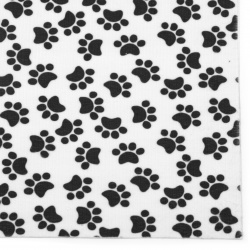 Self-adhesive Velor 19x27 cm pads in white and black