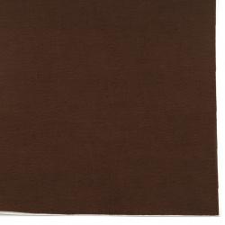 Велур 19x27 см самозалепващ цвят кафяв тъмен
