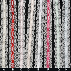 Lace ribbon and satin 25 mm  for Decoration ASSORTE ~ 1.85 meters