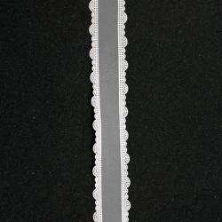 Лента органза 25 мм бяла -3 метра