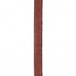 Лента памук 9 мм вишна бледа -3 метра