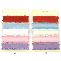 Panglică textilă 28 mm 5 culori x1,8 metri