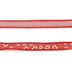 Лента текстил 13 мм АСОРТЕ -1.80 метра