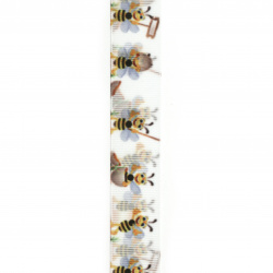 Craft Polyester ribbon 25 mm bee bee -3 meters