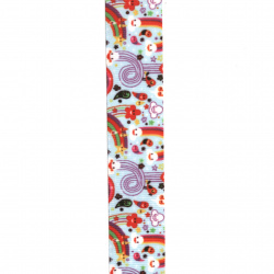 Craft Ribbon polyester 25 mm rips colored -3 meters
