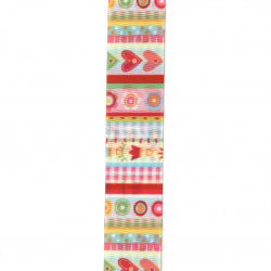 Ribbon polyester 25 mm rips colored -3 meters