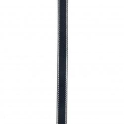 Лента сатен 9 мм рипс синя тъмна с ламе сребро -5 метра