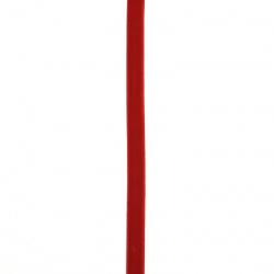 Лента кадифе 10 мм червена тъмна -3 метра