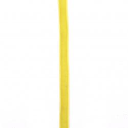 Лента кадифе 10 мм жълта -3 метра