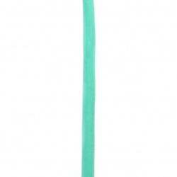 Лента кадифе 10 мм зелена светла -3 метра
