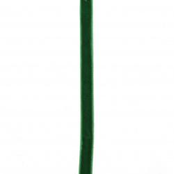 Лента кадифе 10 мм зелена -3 метра