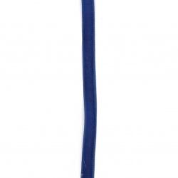 Лента кадифе 10 мм синя тъмна -3 метра